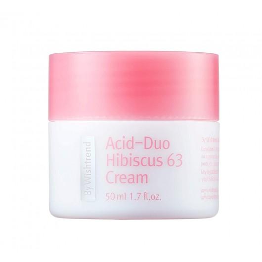 Антиоксидантный крем с LHA-кислотой Acid-Duo Hibiscus 63 Cream By Wishtrend