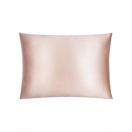 Шелковая наволочка красоты розовая