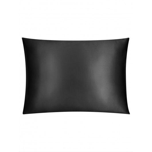 Шелковая наволочка красоты черная