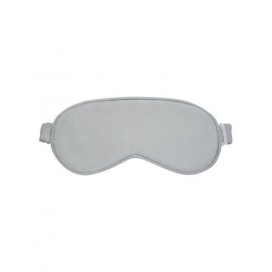 Шелковая маска для сна серебристая