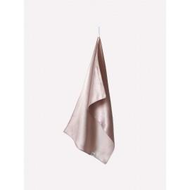 Полотенце для лица 100% шелк пудрового цвета