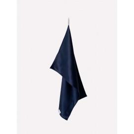 Полотенце для лица 100% шелк темно-синего цвета